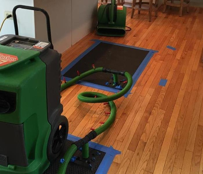 Wood Floor Drying in Plumstead Township After