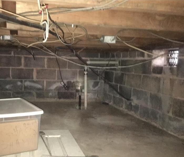Crawl Space with Mold After